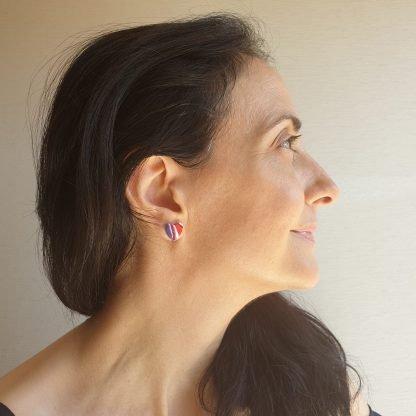 Marbled Stud Earrings